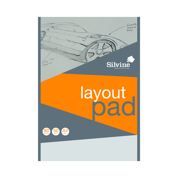 Silvine Layout Pad 80 Sheets A4 A4LP