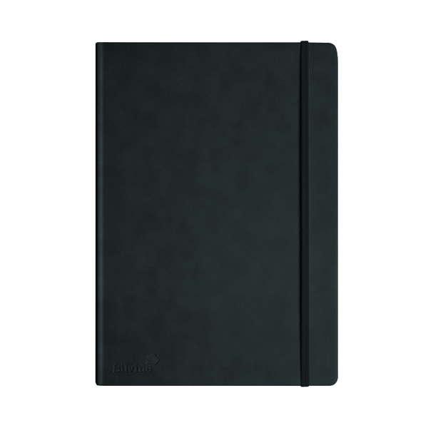 Silvine Executive Notebook 160 Pages A4 Black 198BK