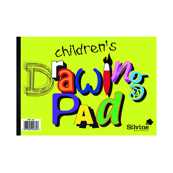 Image for Silvine Children's Drawing Pad A4 (Pack of 12) 420