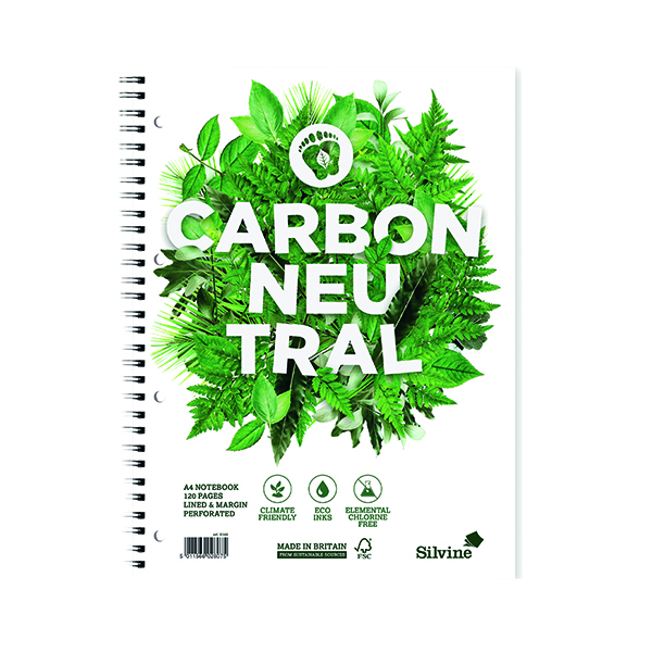 Silvine Carbon Neutral Ruled Notebook A4 120 Pages (Pack of 5) R302