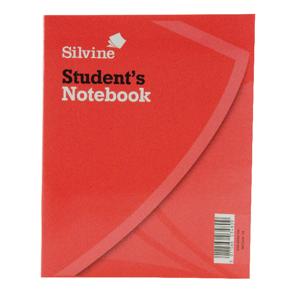 Silvine Exercise Book 200x160mm 40 Leaf Ruled Feint (Pack of 24) 144