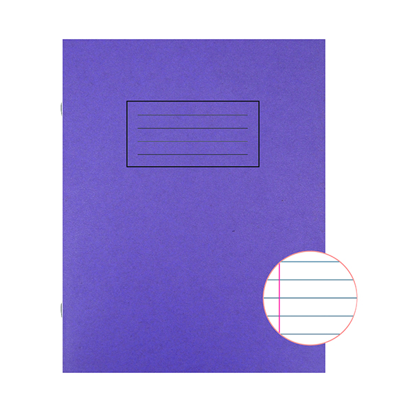 Silvine Exercise Book Ruled 229x178mm Purple (Pack of 10) EX100