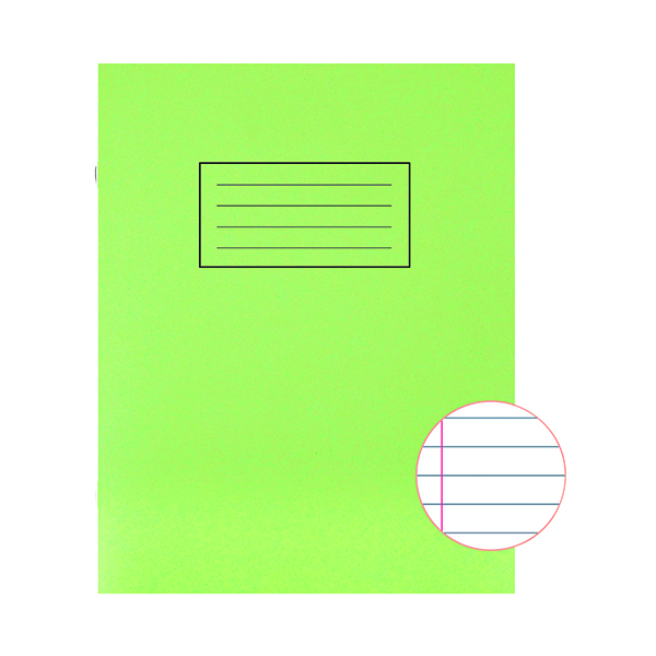 Image for Silvine Exercise Book Ruled 229x178mm Green (Pack of 10) EX102