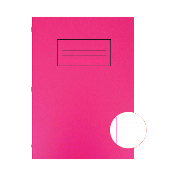 Silvine Exercise Book Ruled with Margin A4 Red (Pack of 10) EX107