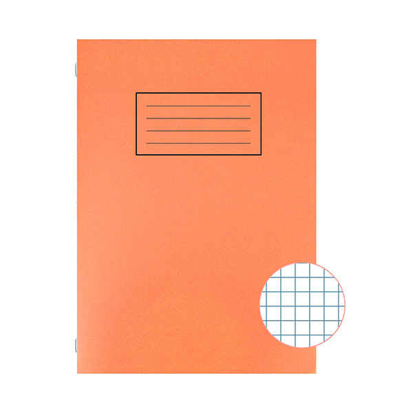 Silvine Exercise Book 5mm Squares A4 Orange (Pack of 10) EX113