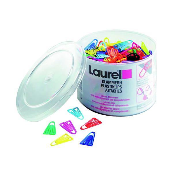 Plastic Paperclips 35mm Assorted (Pack of 200) 126130399