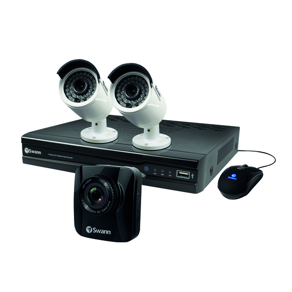 Swann 4 Channel 2 Camera DVR CCTV Kit FOC Dashcam SWNVK-474002-UK