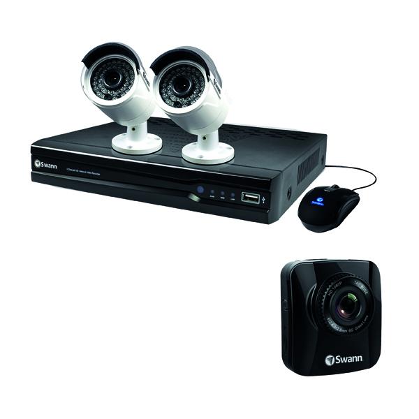 Swann 4 Channel 2 Camera NVR CCTV Kit + Free Dash Cam
