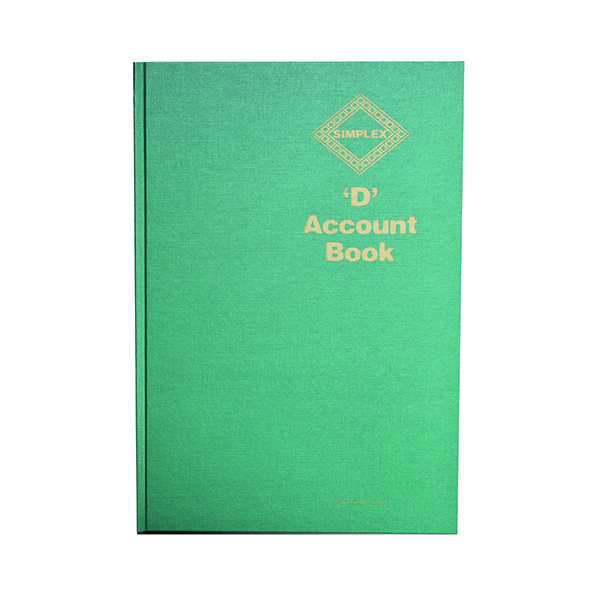 Simplex D Accounts Book One Year 52 Pages D