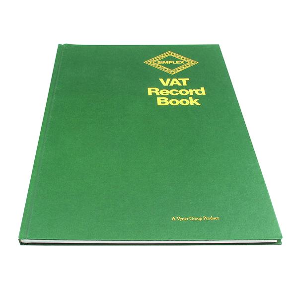 Image for Simplex Hardback VAT Records Book - OEM: VAT