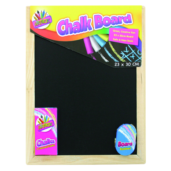 Chalk Board Set With Chalk Board, Chalks And Eraser (Pack of 12) 5249