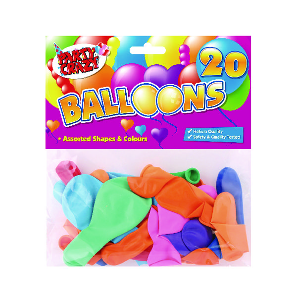 Image for Balloons Assorted Shapes And Colours (Pack of 240) 5701