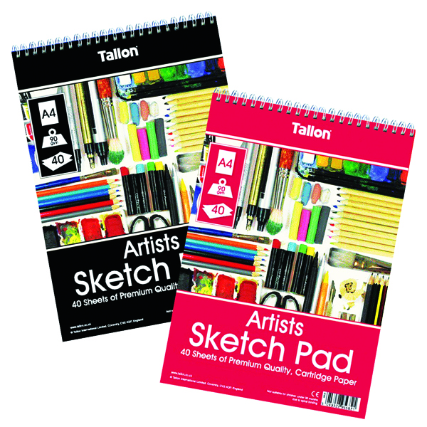 Image for Tallon Artist Sketch Pad 40 Sheet A4 (Pack of 6) TAL05682