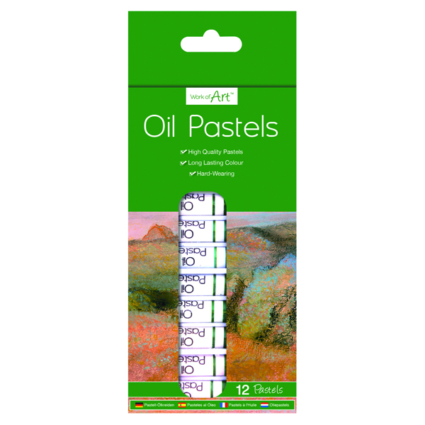 Work of Art High-Quality Oil Pastels (Pack of 12)