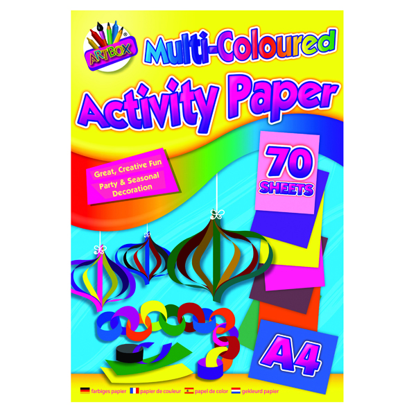 Image for Art Box Activity Paper Pad A4 Assorted (Pack of 12) TAL06872