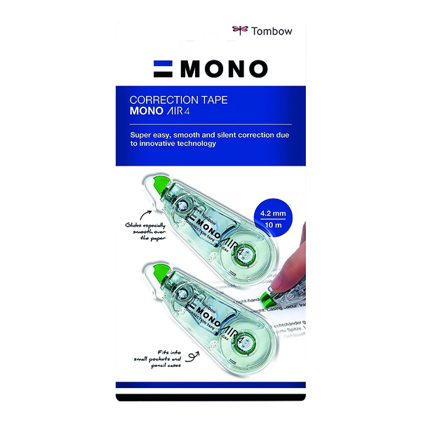 Tombow MONO air4 Correction Tape 4.2mm x 10m (Pack of 20) CT-CA4-20