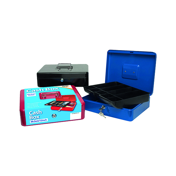 Cash Box 12 Inch Assorted (Pack of 6) 301172