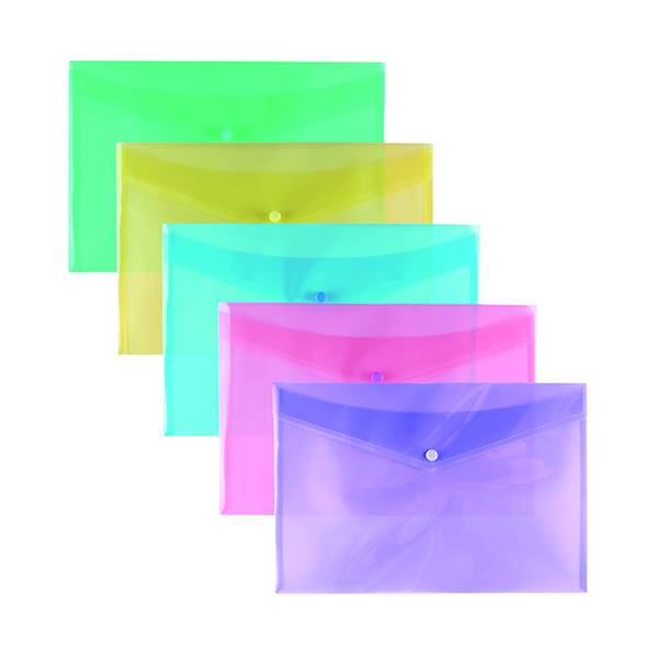 Stud Wallet Pastel Assorted A4 (Pack of 25) 302208