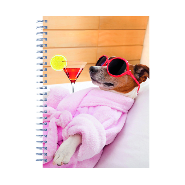 Cats and Dogs Twinwire Notepads A5 (Pack of 5) 302367