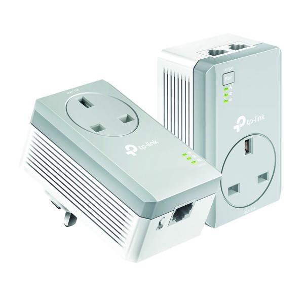 Image for TP-Link AV600 2-Port Passthrough Powerline Starter Kit TL-PA4022P KIT