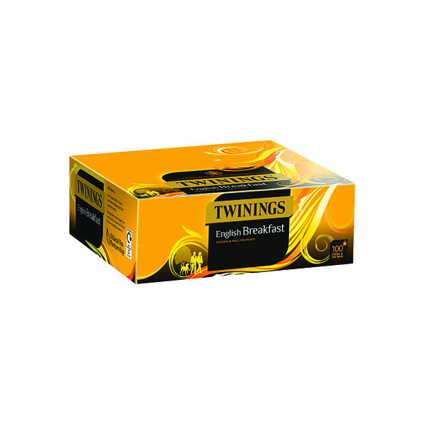 Twinings English Breakfast String and Tag Pack of 100 F14557