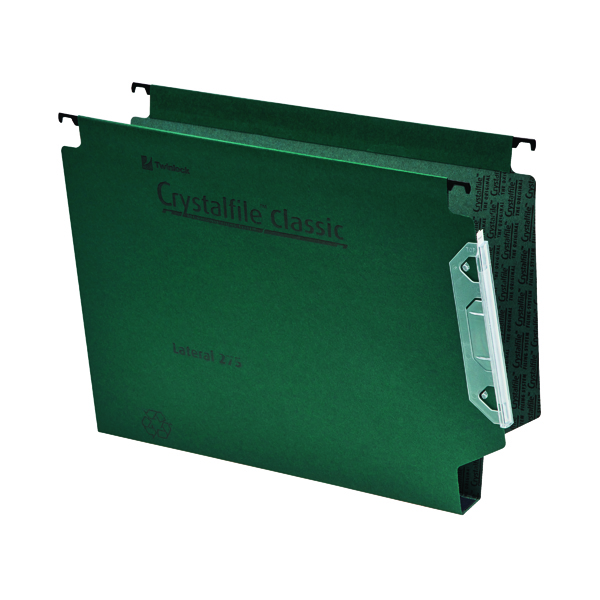 Rexel Crystalfile Classic 30mm Lateral File Green (Pack of 25) 3000109