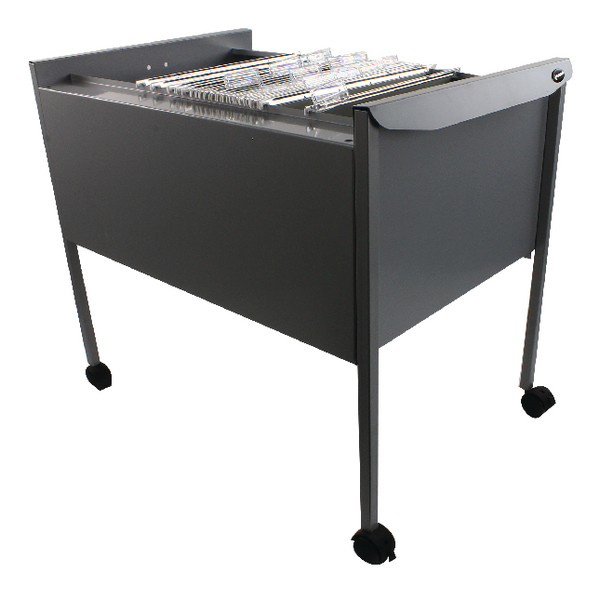 Image for Rexel Filemate Mobile Filing Trolley Titanium Grey 50559