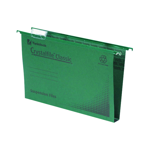 Rexel Crystalfile Classic Suspension File A4 Green (Pack of 50) 70621