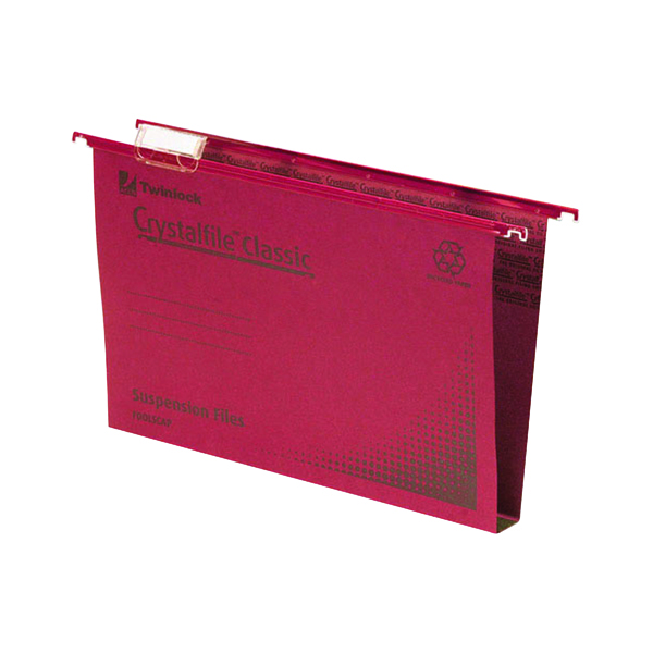 Rexel Crystalfile Classic Suspension File 50mm Red (Pack of 50) 71752