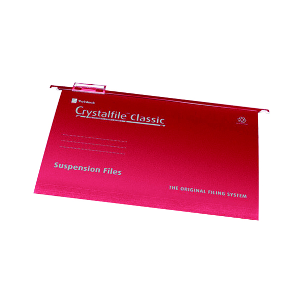 Rexel Crystalfile Classic SuspensionFile Foolscap Red (Pack of 50) 78141