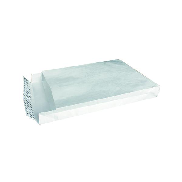 Tyvek Envelope 406x305x50mm Gusset Peel and Seal White (Pack of 100) 758124