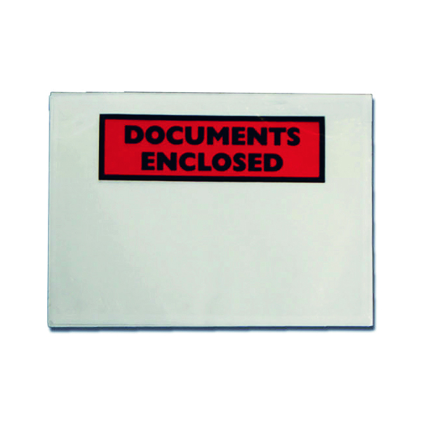 GoSecure Document Envelopes Documents Enclosed Self Adhesive DL (Pack of 100) 9743DLDE01