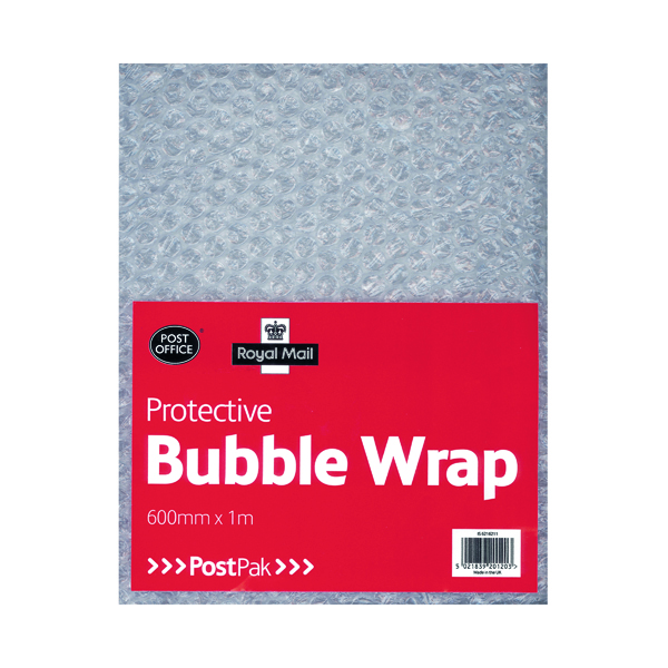 Postpak Protective Bubble Wrap Flat Sheet 600mm x 1m (Pack of 6) 37728