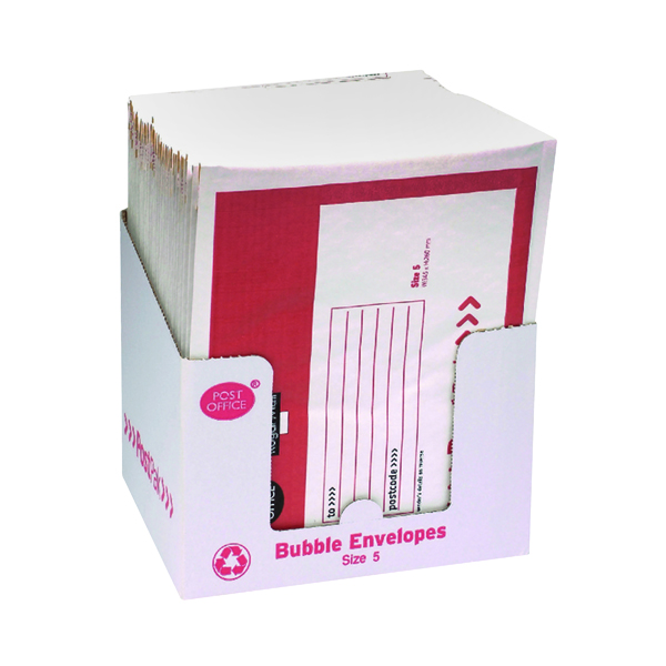 Post Office Postpak Size 5 Bubble Envelopes (Pack of 40) 41640