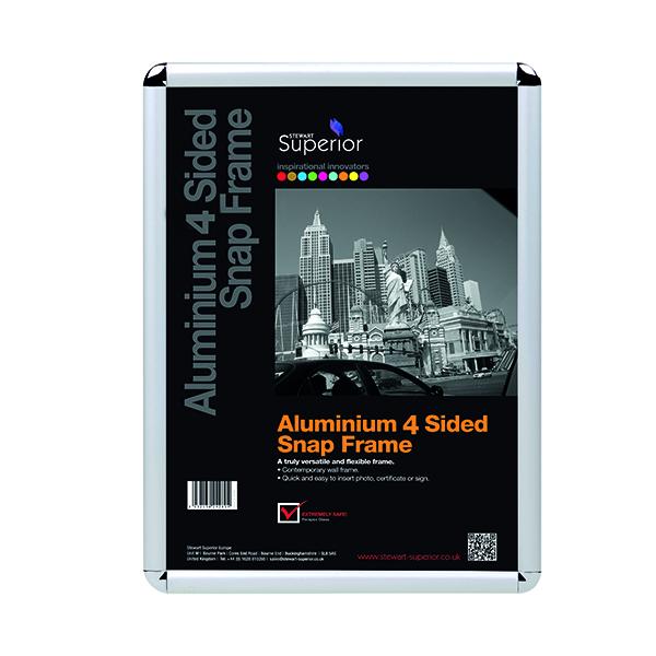 Stewart Superior Snap Frame A3 Chrome ROUNDA3