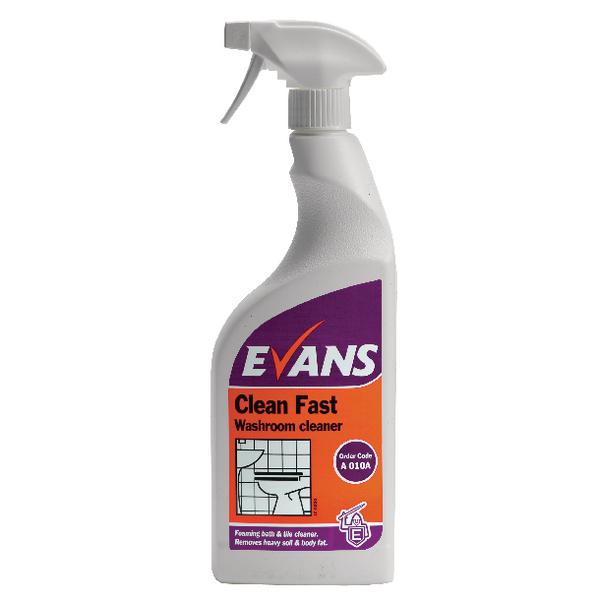 Evans Clean Fast Washroom Cleaner 750ml (Pack of 6) A010AEV