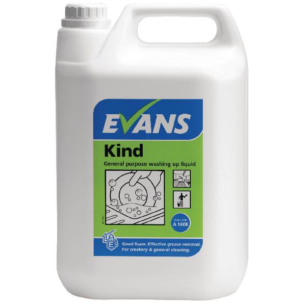 Evans Kind Washing Up Liquid 5 Litre (Pack of 2) A180EEV2
