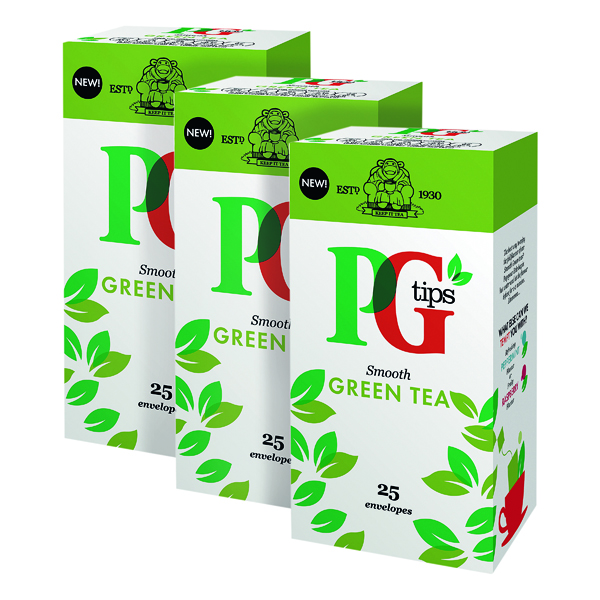 PG Tips Green Tea Envelope (Pack of 25) 3For2