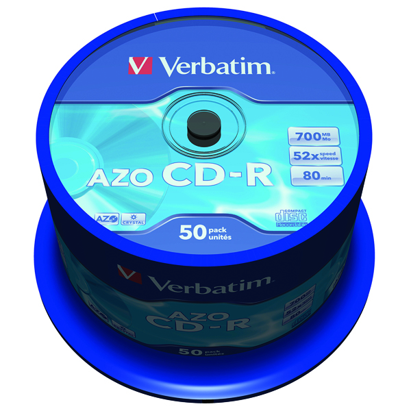 Image for Verbatim CD-R AZO Crystal Spindle 700MB (Pack of 50) 43343