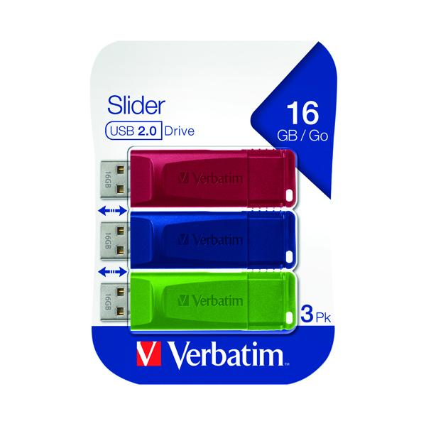 Verbatim Store n Go USB 2.0 16GB (Pack of 3) 49326