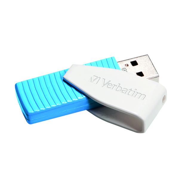 Verbatim Store n Go Swivel USB 2.0 128GB Caribbean Blue 49817