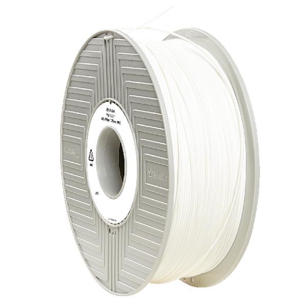 Verbatim ABS White 3D Printing Filament Reel 1.75mm 1kg 55011