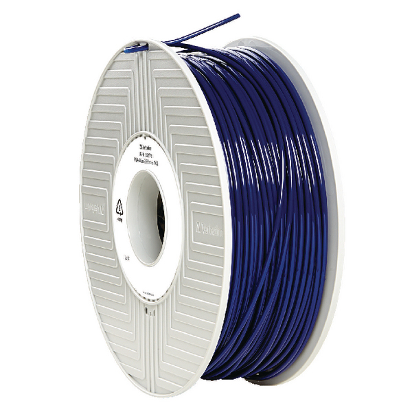 Verbatim PLA 3D Blue Printing Filament Reel 2.85mm 1kg 55278