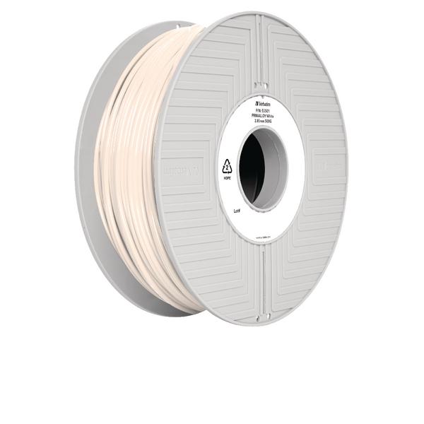 Verbatim Primalloy White 3D Printing Filament Reel 2.85mm 500g 55501