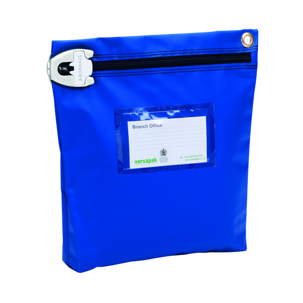 Versapak High Security Pouch 267x267x50mm Blue CCB1_T2SEAL