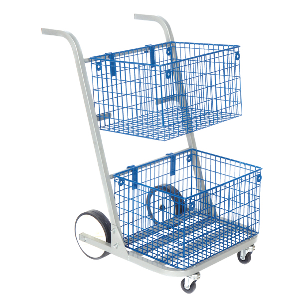 GoSecure Major Mail Trolley Removable Baskets Silver MT2SIL