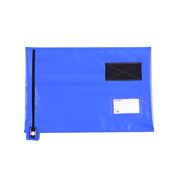 GoSecure Lightweight Security A3 Pouch Blue (Can be used with security seals, sold seperately) CVF3