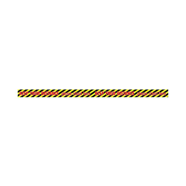 Social Distance Sticker 650x60mm Tape (Pack of 5) Socialstick09