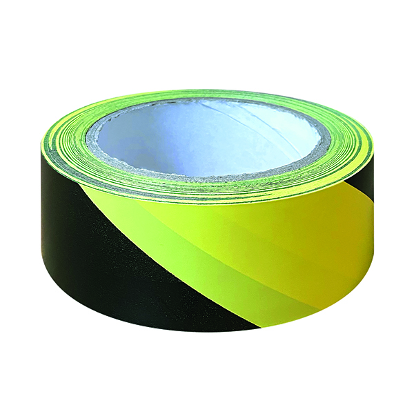 Black And Yellow Hazard Tape (Pack of 6) HZT3348