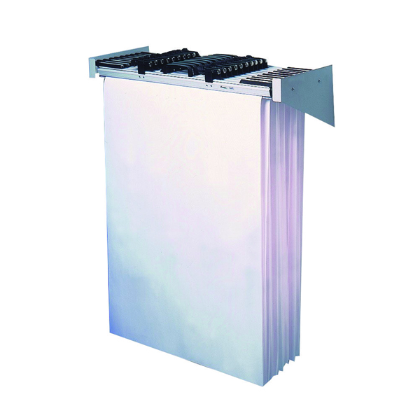Vistaplan Wall Carrier A0 Grey 10 Hanger Capacity WA0